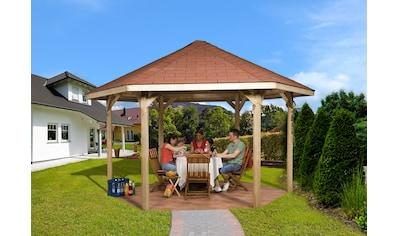 weka Pavillon »Paradies 2«, (Set), BxT: 399x461 cm, inkl. Dachschindeln und Pfostenanker kaufen