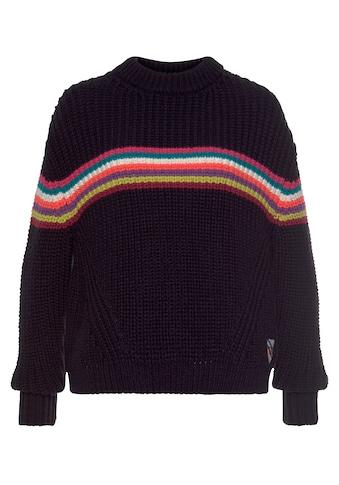 Superdry Strickpullover »NEON STRIPE RIBBED CREW«, kuscheliger Pullover in knalligen... kaufen