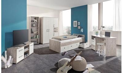 arthur berndt Jugendzimmer - Set »Bente« (Set, 5 - tlg Bett + 4 trg. Schrank + Schreibtisch + Standregal + Lowboard) kaufen