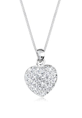 Elli Collierkettchen »Herz Anhänger mit Swarovski® Kristalle 925 Silber« kaufen