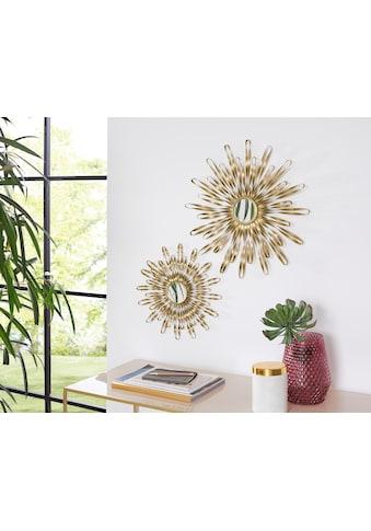 Leonique Wanddekoobjekt, Wanddeko, aus Metall, mit Spiegel kaufen