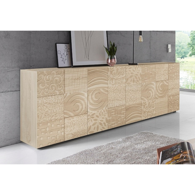 LC Sideboard »Miro«, Breite 241 cm mit dekorativem Siebdruck