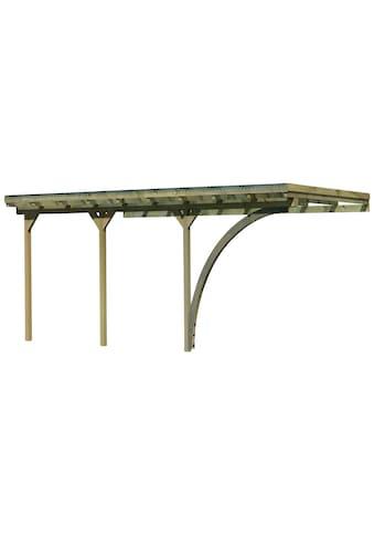 Karibu Anlehncarport »Eco 3«, Nordisches Fichtenholz, 324 cm, braun kaufen