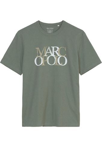 Marc O'Polo T-Shirt, mehrfarbiger Markenschriftzug kaufen