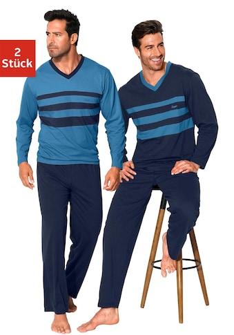 le jogger® Pyjama, mit Colourblocks kaufen