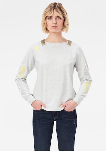 G-Star RAW Sweatshirt »Sleeve Print Tweater«, mit Gewebebändern am Rundhalsausschnitt kaufen