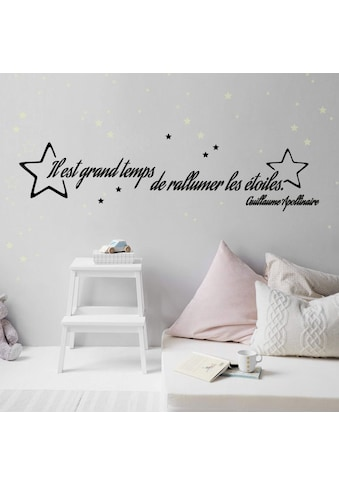 Wall-Art Wandtattoo »Il est grand temps Leuchtsterne« kaufen