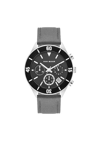 Van Maar Chronograph »VM014«, (1 tlg.), Armband aus Nylon/Echtleder kaufen