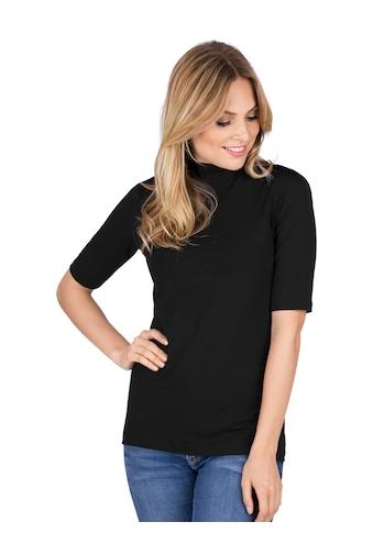 Trigema T - Shirt mit elastischem Stehkragen kaufen