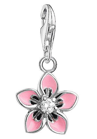 THOMAS SABO Charm-Einhänger »Rosa Blume, 1354-041-9«, mit Emaille und Zirkonia kaufen