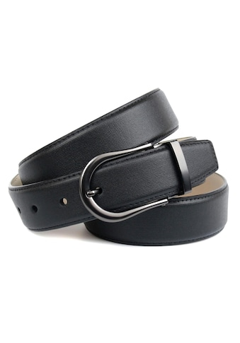 Anthoni Crown Ledergürtel, mit runder, matter Gürtelschließe kaufen