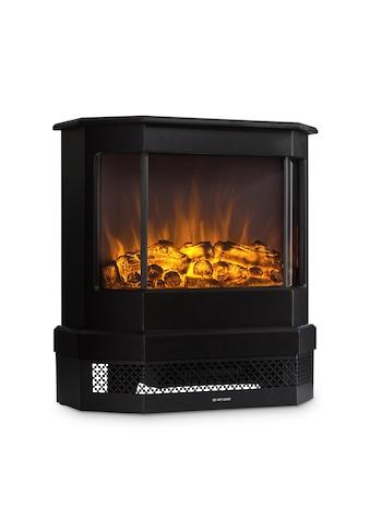 Klarstein Castillo Elektrischer Kamin Halogen-Flammensimulation schwarz kaufen