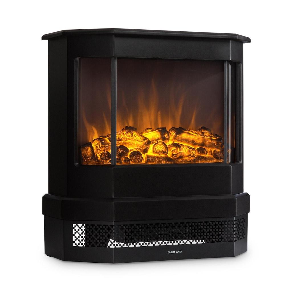 Klarstein Castillo Elektrischer Kamin Halogen-Flammensimulation schwarz