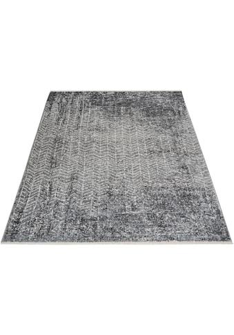 INOSIGN Teppich »Frieda«, rechteckig, 5 mm Höhe, Vintage Design, mit Fransen, Wohnzimmer kaufen