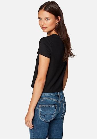 Mavi T-Shirt »SHORT SLEEVE TOP«, im weichen Viskosemix kaufen