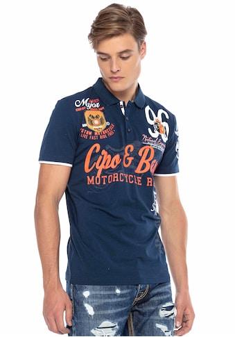 Cipo & Baxx Poloshirt »Motorcycle Race« kaufen