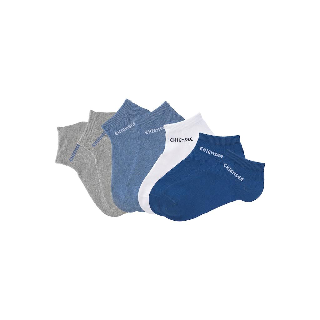 Chiemsee Sneakersocken, (7 Paar), mit eingestricktem Logo