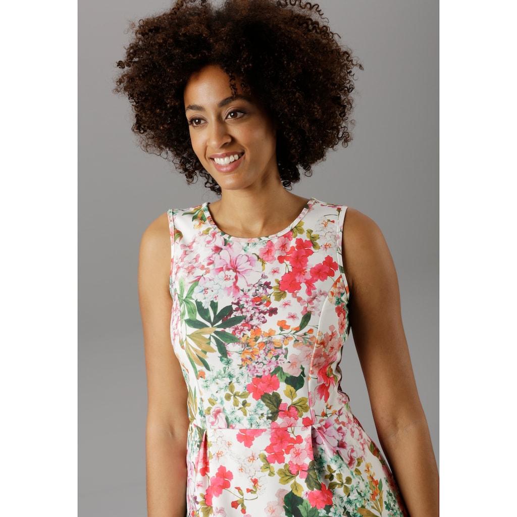 Aniston SELECTED Sommerkleid, im sommerlichen Blumendruck - NEUE KOLLEKTION