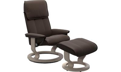 Stressless® Relaxsessel »Admiral«, mit Classic Base, Größe M & L, Gestell Whitewash kaufen