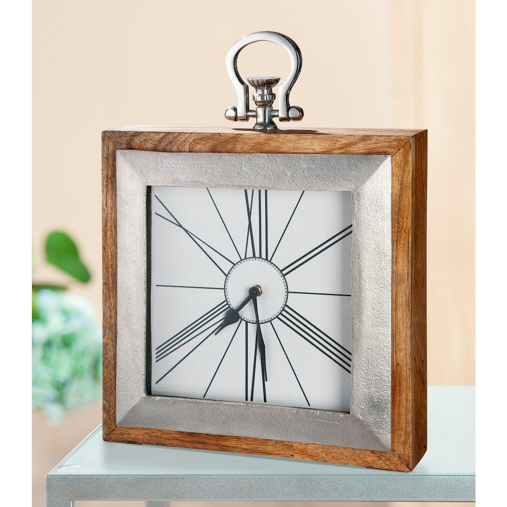 GILDE Standuhr »Uhr Empire«, Höhe 36 cm, eckig, Wohnzimmer