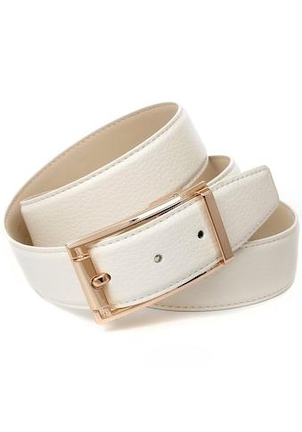 Anthoni Crown Ledergürtel, im klassischen Design, schlichte elegante Gürtelschließe kaufen