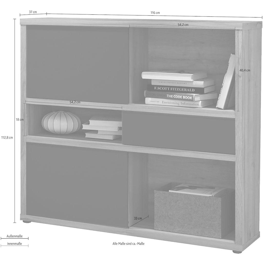 HMW Collection Standregal »Slide«, mit Schiebefronten und Rückwand