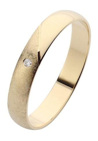 Firetti Trauring mit Gravur »glanz, eismatt, Diamantschnitt, 3,5 mm breit«, Made in Germany, wahlweise mit oder ohne Brillant kaufen