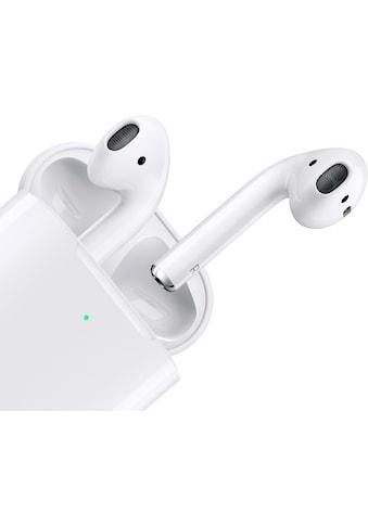 Apple In-Ear-Kopfhörer »AirPods with Charging Case (2019)«, Bluetooth, Sprachsteuerung-True Wireless, Kompatibel mit iPhone, iPhone XR, iPhone Mini, iPad Air / Mini / Pro, Watch SE, Series 6, Series 5, Series 4, Series 3, Mac Mini, iMac kaufen