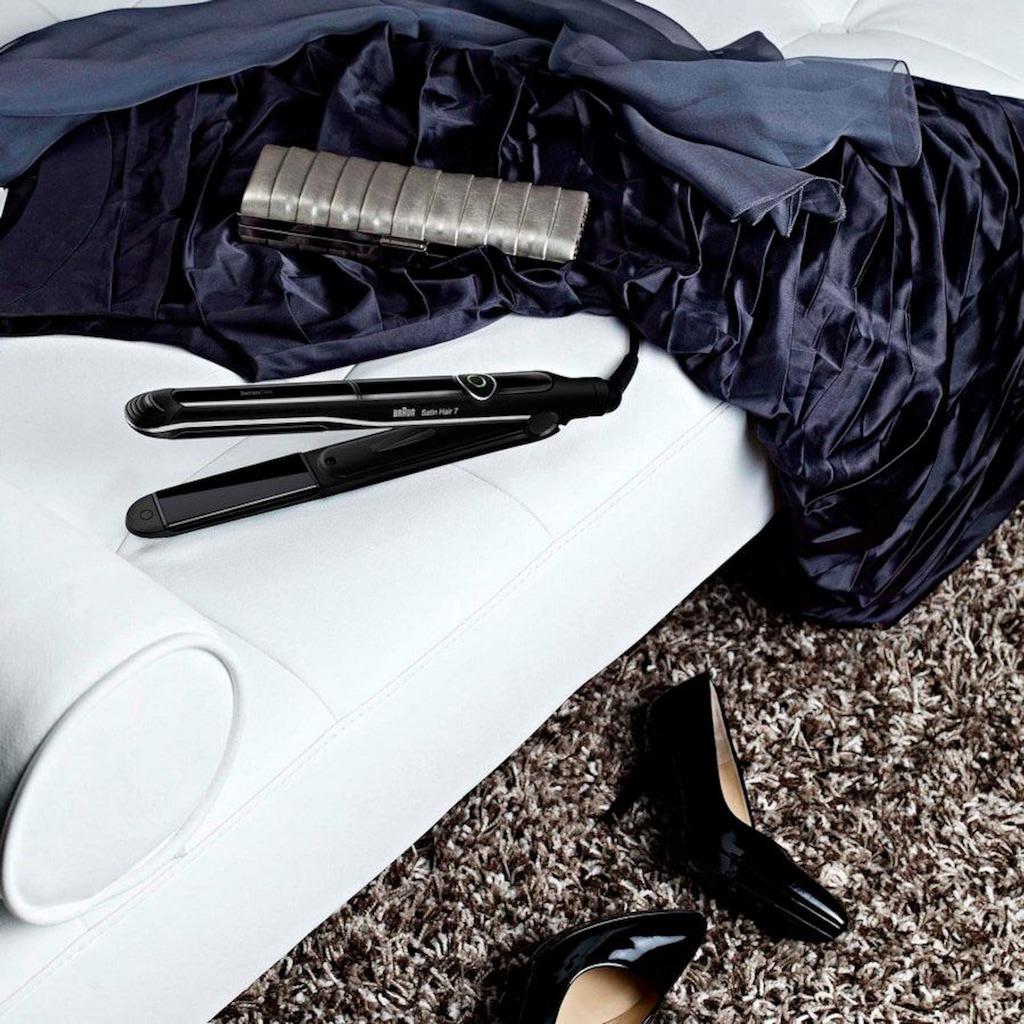 Braun Glätteisen »Satin Hair 7 ST 780«, Nano-Glide-Keramikplatten-Beschichtung, SensoCare
