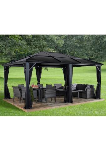 Sojag Pavillon »Gazebo Meridien«, (Set), BxT: 365x485 cm, mit Moskitonetzen kaufen
