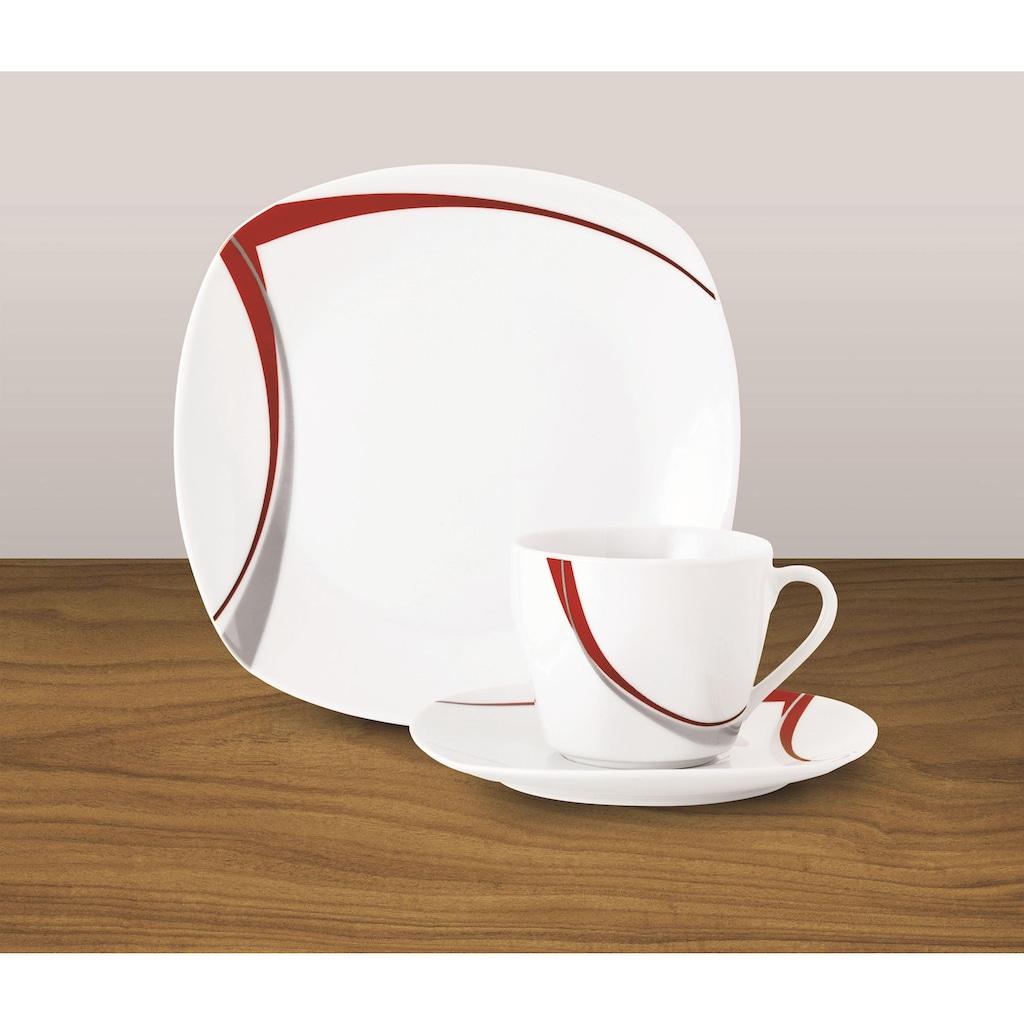 van Well Kaffeeservice »CASA«, (Set, 18 tlg.), Spülmaschinengeeignet