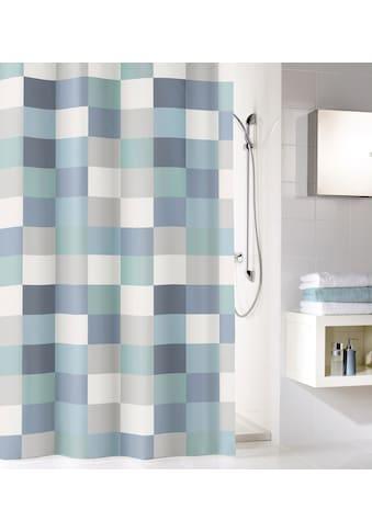Kleine Wolke Duschvorhang »Check«, Breite 180 cm, (1 tlg.), Höhe 200 cm, inklusive Duschvorhangringe kaufen
