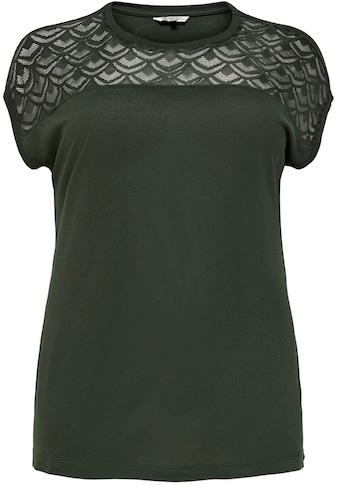 ONLY CARMAKOMA Longshirt »CARFLAKE«, vorn in Spitzenoptik kaufen