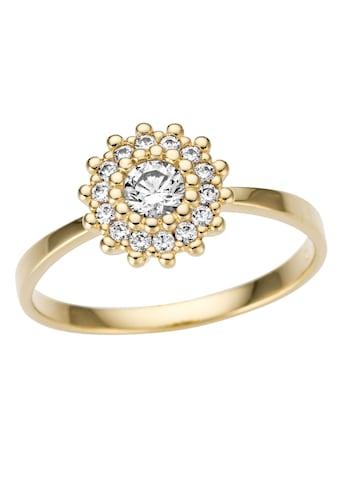 Firetti Goldring »glamourös, glanz, massiv«, mit Zirkonia kaufen