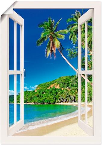 Artland Wandbild »Fensterblick Paradies«, Fensterblick, (1 St.), in vielen Größen &... kaufen
