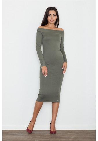 FIGL Abendkleid mit langem Arm und Carmen - Ausschnitt kaufen
