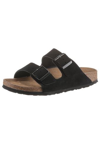 Birkenstock Pantolette »Arizona Suede SFB«, aus Leder, schmale Schuhweite kaufen
