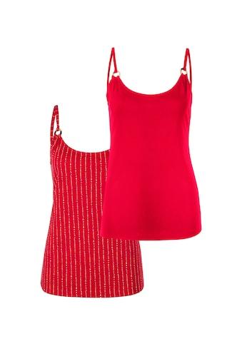 LASCANA Spaghettitop, (2er-Pack), mit Ringeinsätzen in Hornoptik kaufen