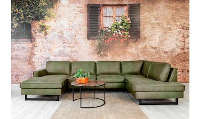 Places of Style Wohnlandschaft »Pinto«, mit Keder und Metallfüßen. Auch mit Cord oder Kunstleder Bezug erhältlich kaufen