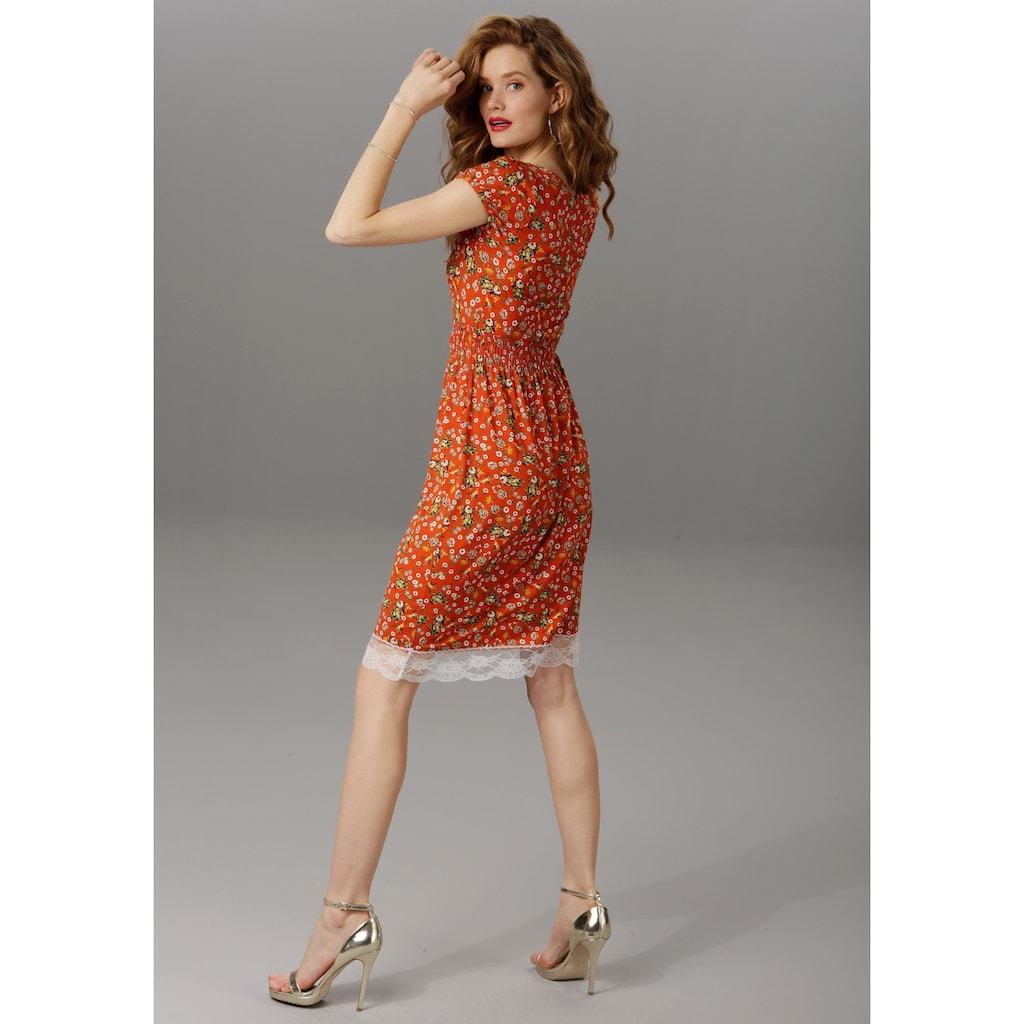 Aniston CASUAL Sommerkleid, mit Spitze am Ausschnitt und Saum