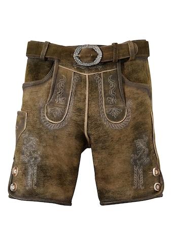 Hammerschmid Trachtenlederhose Kinder im Used Look kaufen
