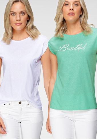 Flashlights T-Shirt, mit überschnittenen Schultern & kleinem Ärmelaufschlag kaufen