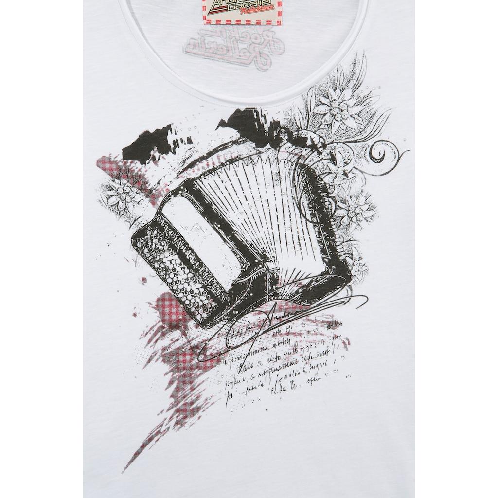 Andreas Gabalier Kollektion Trachtenshirt, Damen mit sprechendem und animierten AR-Print