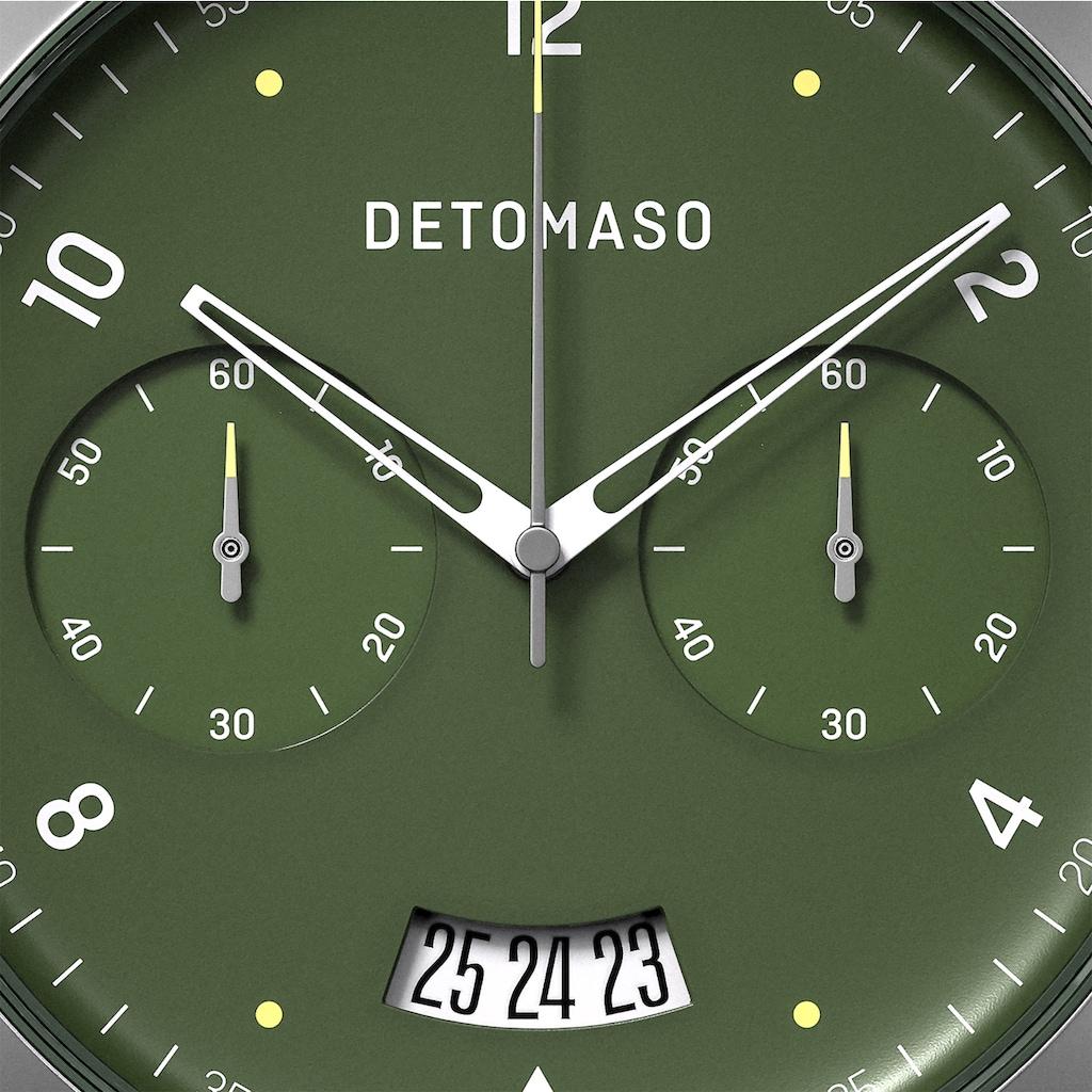 DETOMASO Chronograph »SORPASSO QUARZUHR GREEN MILANESE«