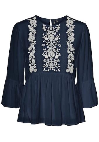 Vero Moda Shirtbluse »VMKARLA 3/4 EMB TOP«, mit Stickerei kaufen