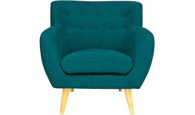 Home affaire Sessel »Noris«, mit Zierknopfheftung im Rücken, skandinavischer Stil,... kaufen