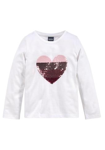 Arizona Paillettenshirt »Herz« kaufen