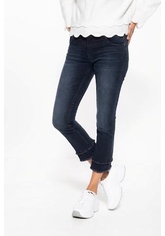ATT Jeans 7/8-Jeans »Brenda«, mit Waschungen und offenen Saumkanten kaufen