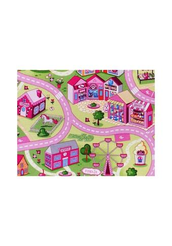 Andiamo Kinderteppich »Coupon Sweet Town«, rechteckig, 3 mm Höhe, Meterware, Breite 400 cm, Wunschmaßlänge kaufen