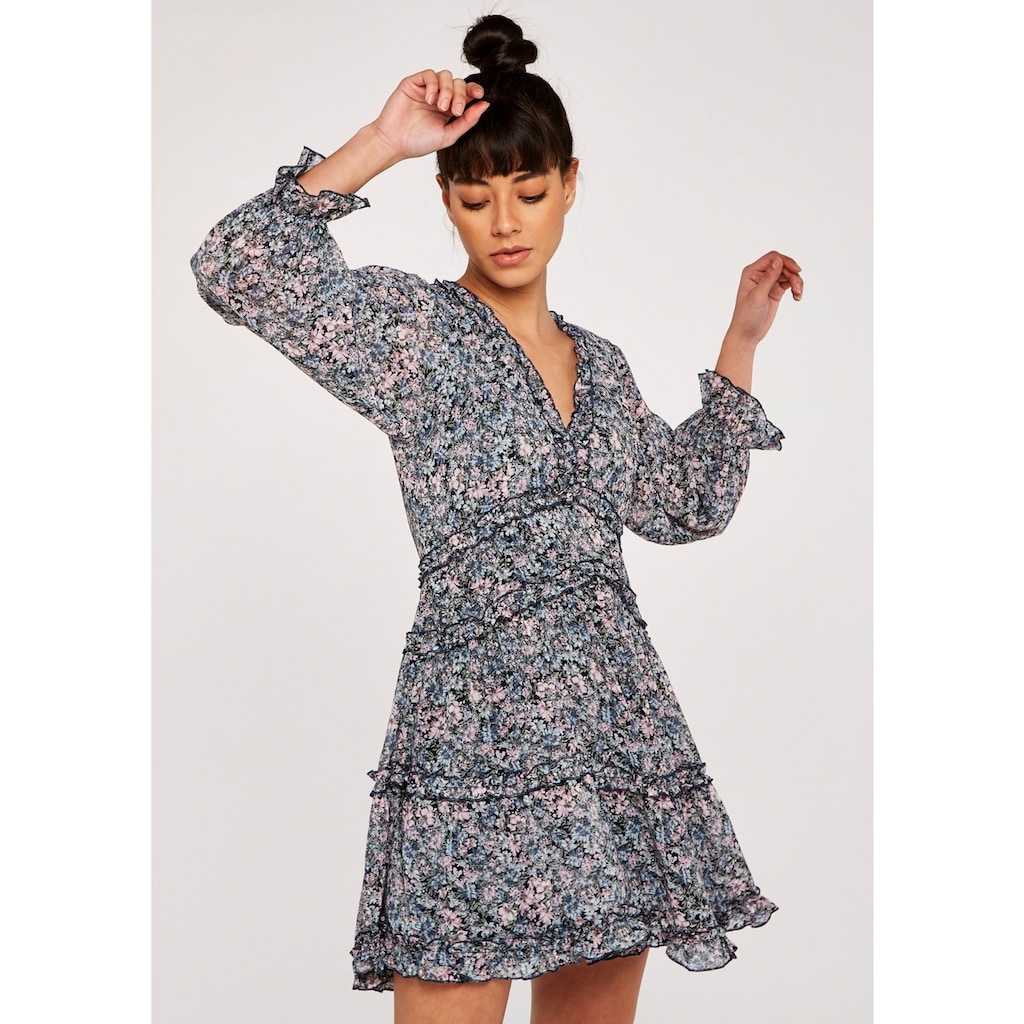 Apricot Druckkleid »Ruffle Details Tiered Dress«, Mit Rüschen